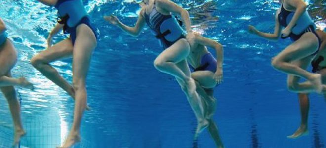 Бег в воде- скандинавский стиль